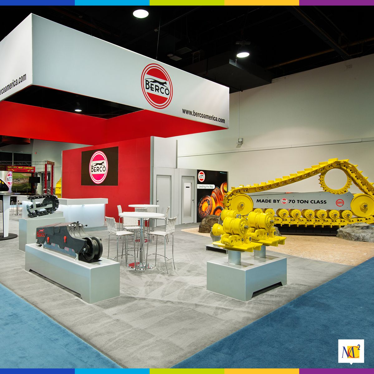 MC2 designed Berco's exhibit at #ConExpo 2017 in Las Vegas. Our design positioned Berco as the undercarriage reference point in the field of mining and construction equipment. #MC2 #brand #experience #showcase #innovation #brandexperience #brandexhibit #displaydesign #eventmarketing #eventprofs #tradeshowexhibit #Berco #showcase #interactive