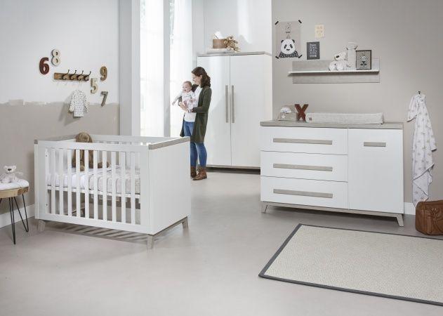 Kinderkamer Baby Dump.Ledikant 60 X 120 Commode 3 Laden 1 Deur Artic Twf
