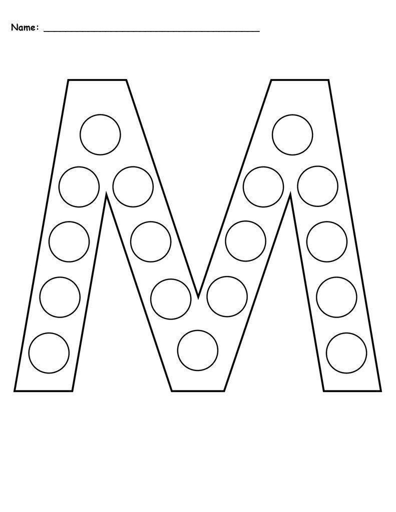Free Letter M Do A Dot Printables Uppercase Lowercase Letter M Worksheets Do A Dot Letter Tracing Printables
