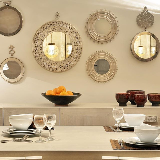 Create your own wall art using a mixture of mirrors. #mirror ...