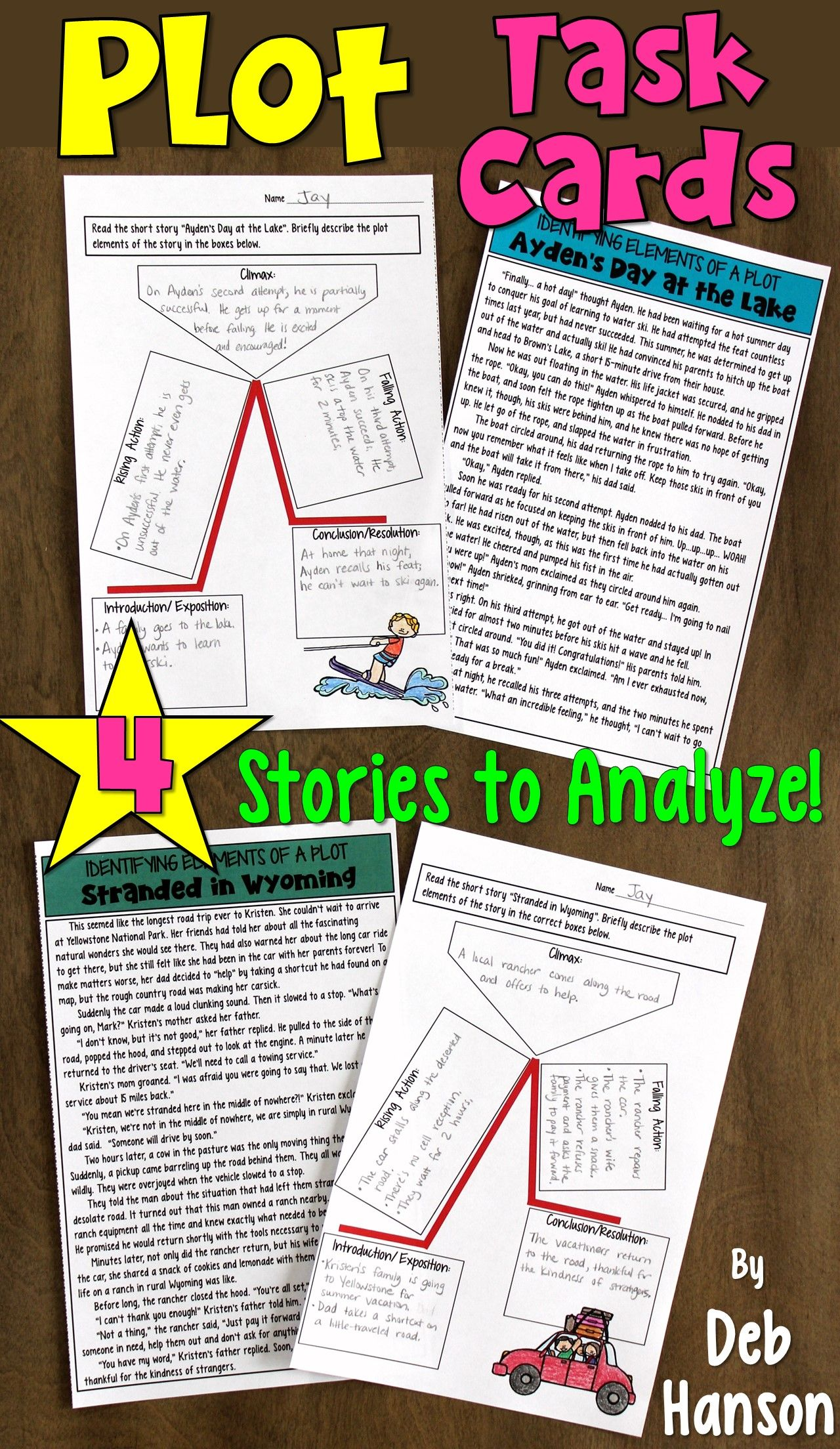 Plot Task Cards Or Worksheets Task Cards Teaching Plot Teaching Plot Structure