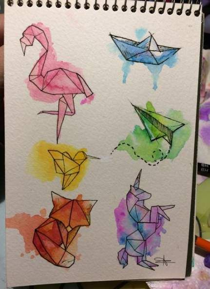 Photo of 27+ Ideen Origami Tattoo Aquarell Kunst