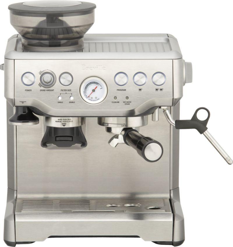 Breville Barista Express Espresso Machine Reviews Crate And Barrel Home Espresso Machine Espresso Cappuccino Machine