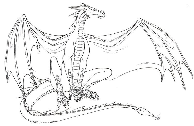 Image by Ayla Kay Fox on Harlee Color Dragon coloring
