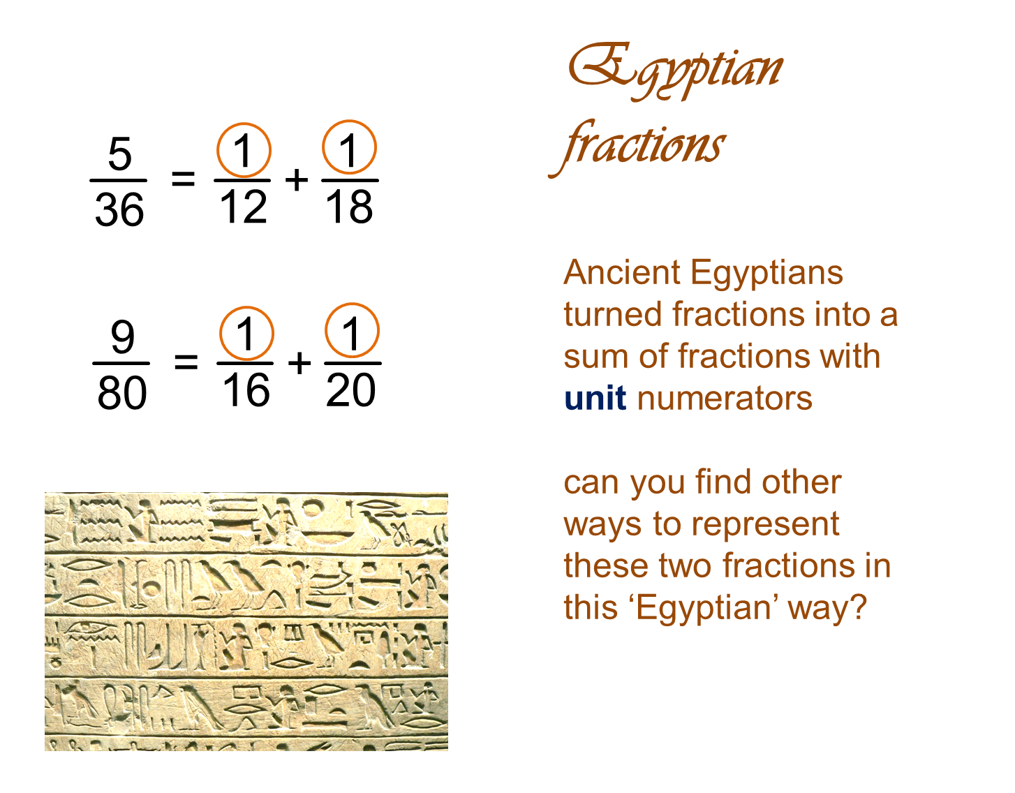Egyptian Fractions Fractions Mathematics Education Mathematics