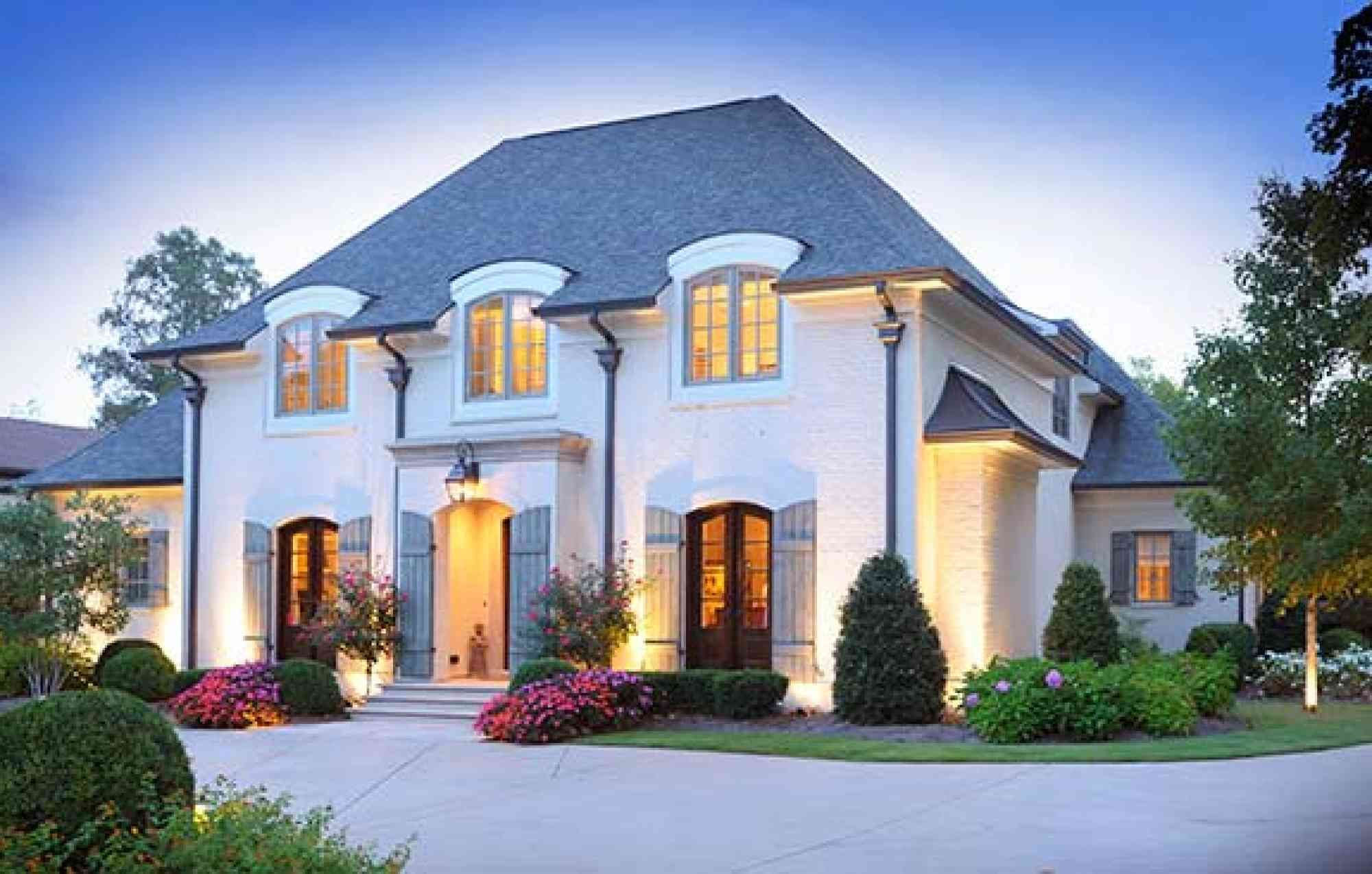 French Manor Castle Custom Homes Home Builder Nashville French Country Exterior Luxury Exterior French Style Homes