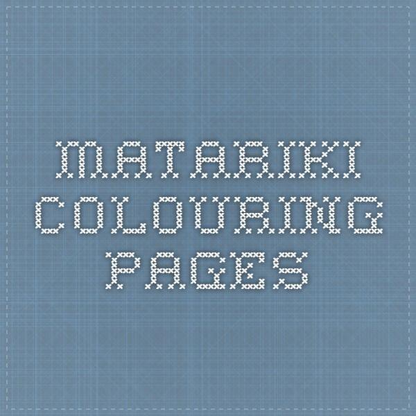 matariki colouring pages | Te Reo Maori | Pinterest | Maori and School