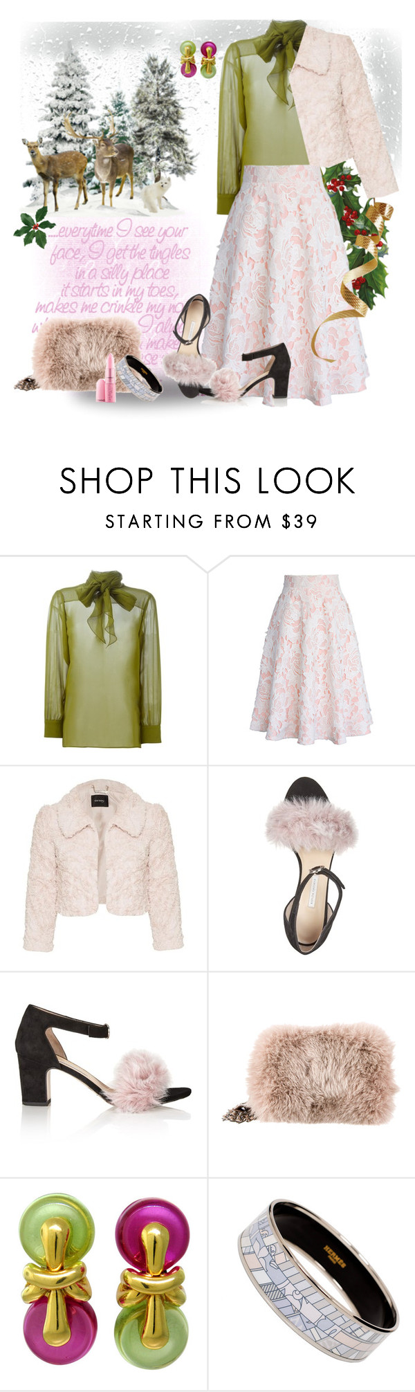 """holiday style"" by straylittle ❤ liked on Polyvore featuring Gucci, Chicwish, Bionda Castana, Prada, Marina B and Hermès"