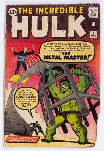Silver Age (1956-1969):Superhero, The Incredible Hulk #6 (Marvel, 1963) Condition: FR....