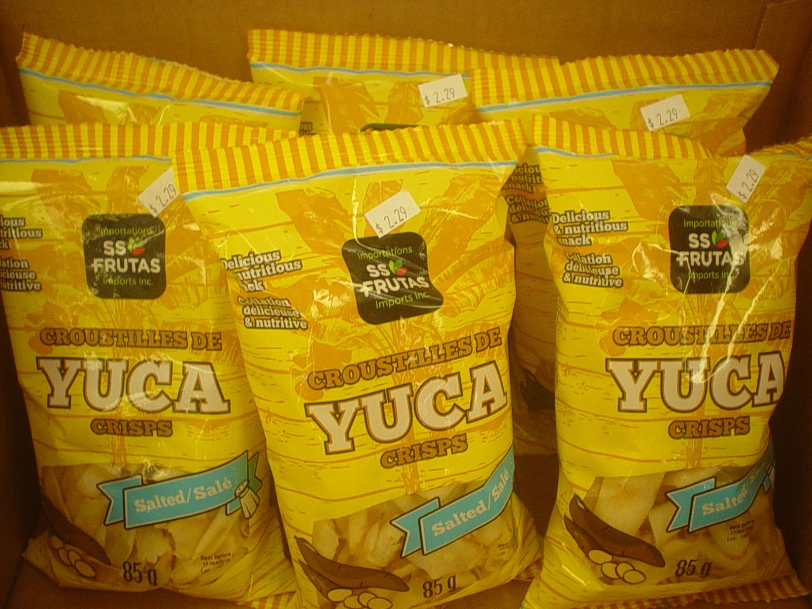 Yucca (cassava) chips! A healthier snack for you... new at