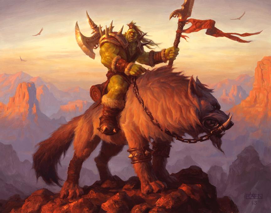 Orc Raider — The Art of Chris Rahn | Warcraft art, Warcraft orc, Art