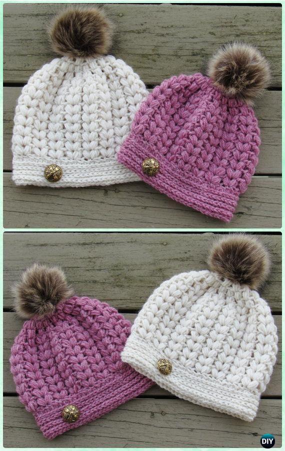 Ganchillo del soplo de la puntada del patrón del sombrero   crafts ...