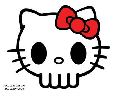 cf22c705d Hello Kitty skeleton (possible pumpkin carving idea) | Holiday Fun ...