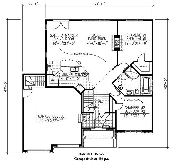 694 Le Galba Bungalow Maison Secondaire Plain Pied Plans Bungalow Plain Pied Maison
