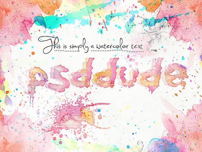 Watercolor Stain Text In Photoshop Photoshop Design Typography