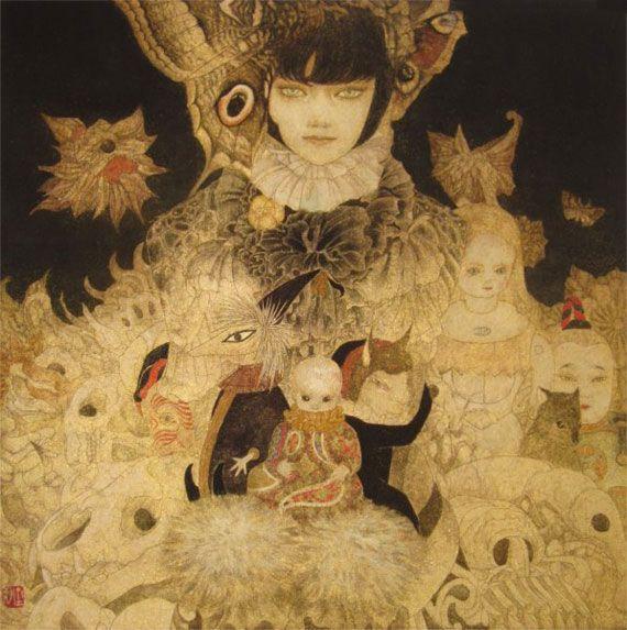 日本画家 笹本正明が描く耽美で妖艶な幻想的世界 artist database アートのアイデア 日本画 モダンアート