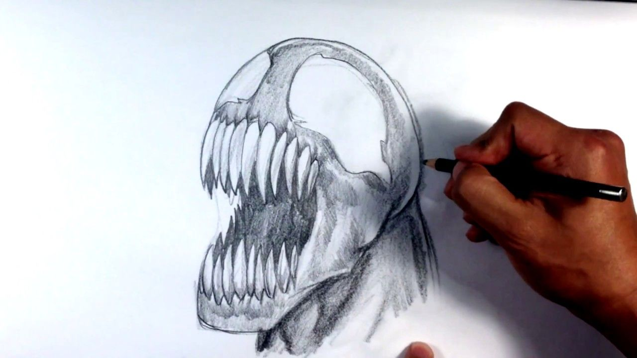 How To Draw Venom From Spider Man Learntodrawathome Howtodraw