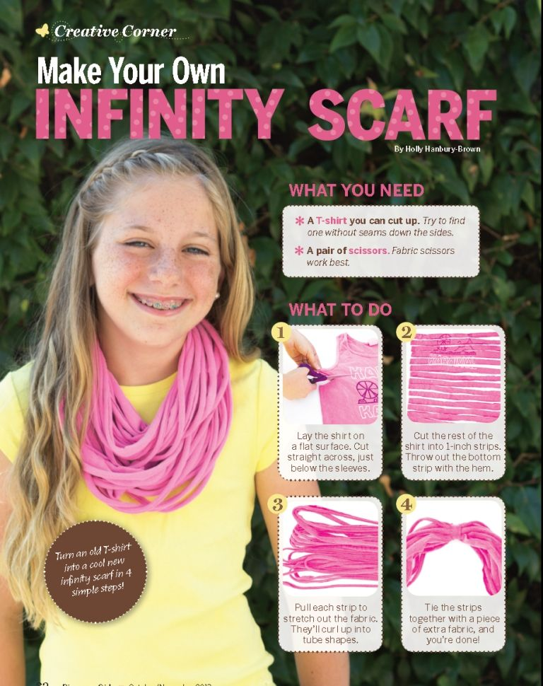 Learn How To Make Your Own Infinity Scarf Howto How To