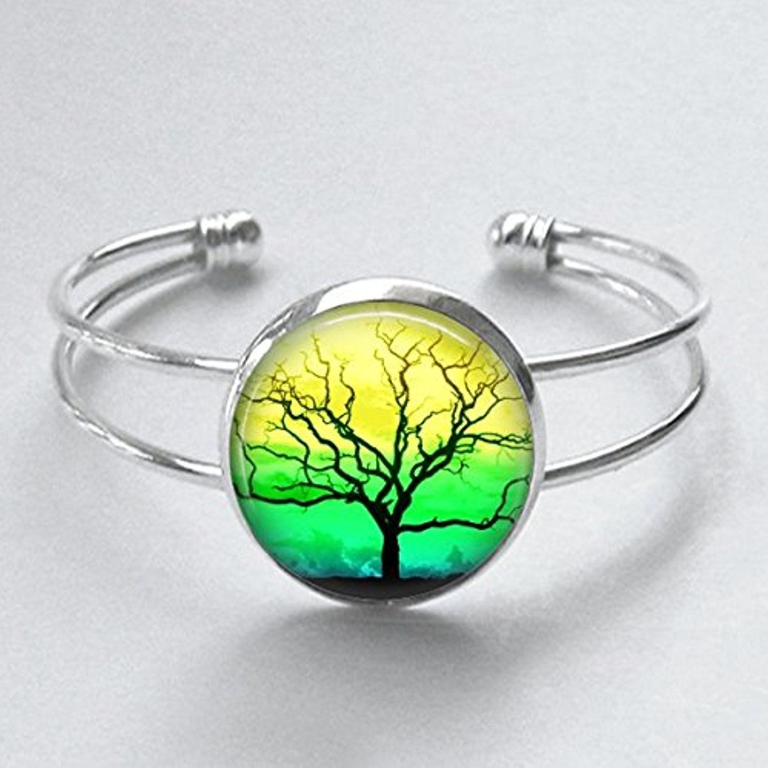 Tree of Life Cuff Bracelet Jamaican Colors Handmade 25mm -- Awesome ...