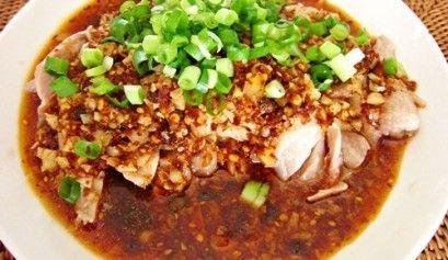 紅湯爽口鶏