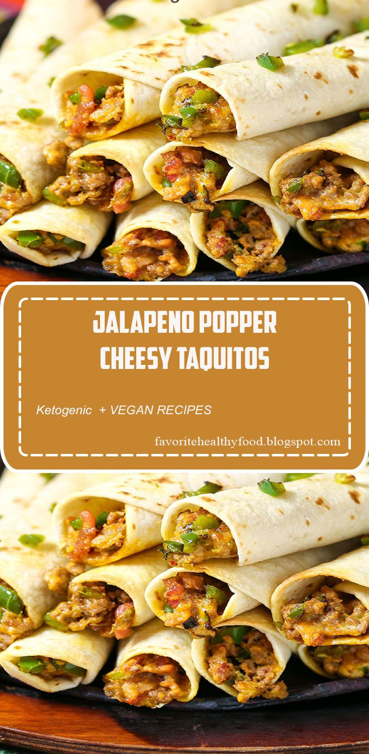 Jalapeno Popper Cheesy Taquitos Jalapeno Popper Cheesy Taquitos are the consummate Game Day food. An easy recipe that will knock your socks off, with instructions to make-ahead too. Loaded with your favorite popper flavors: jalapenos, bacon and ooey gooey cheese. Adding perfectly seasoned beef makes this an awesome dinner recipe and it is on our menu regularly!