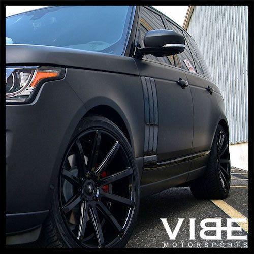 "22"" Xo Tokyo Black Concave Wheels Rims Fits Range Rover"
