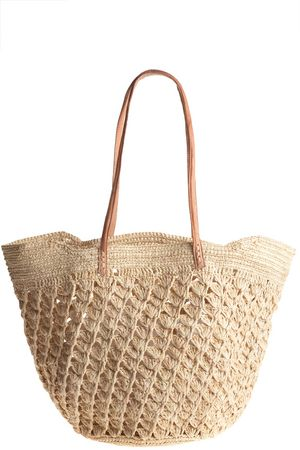 We've found the perfect beach tote. Works for preppy, bohemian and everything in between. Calypso St. Barth Aix Straw Beach Tote