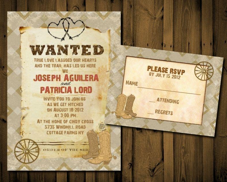 Cowboy Wedding Invitations | Wedding Ideas | Pinterest | Cowboy ...