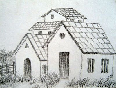 very easy house drawing - Easy House Drawings
