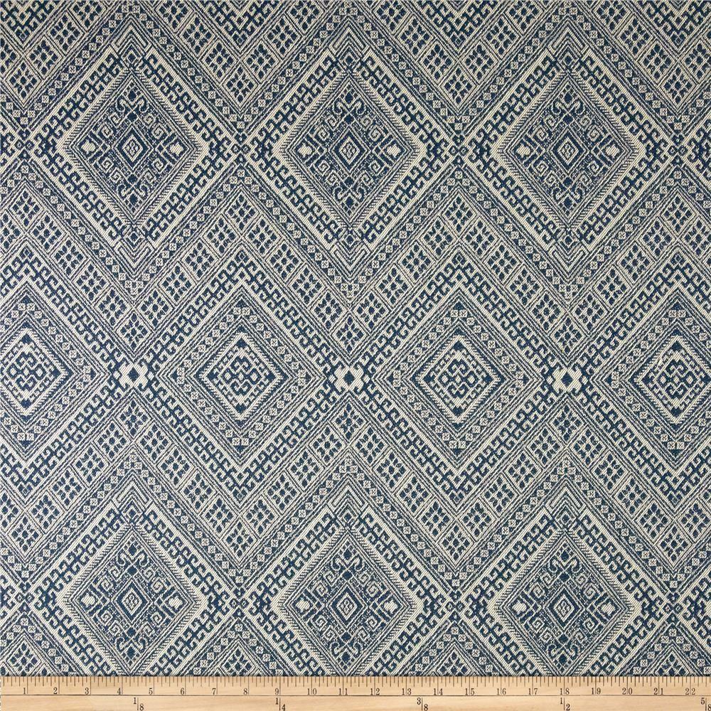 Nate Berkus Santa Maria Jacquard Prussian Fabric Decor Fabric Upholstery Fabric
