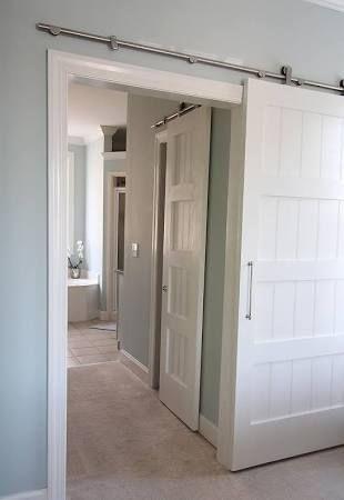 scheunentor im schlafzimmer ideen einrichtung   möbelideen, Badezimmer