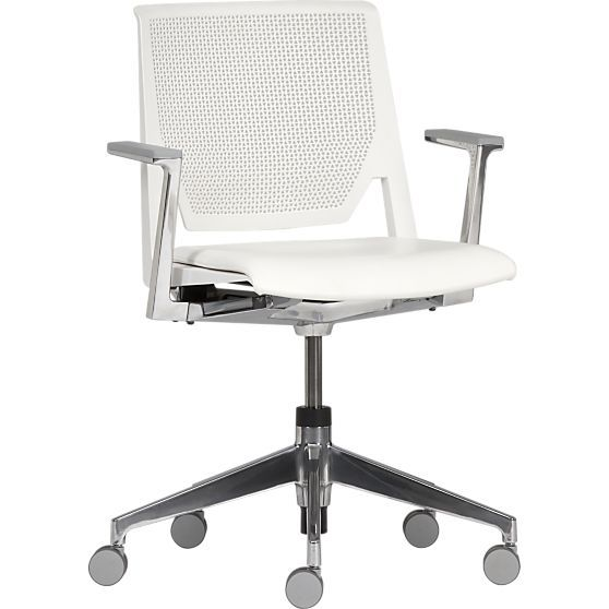Haworth Very White Office Chair In Office Chairs Crate And Barrel White Office Chair White Office Furniture Chair