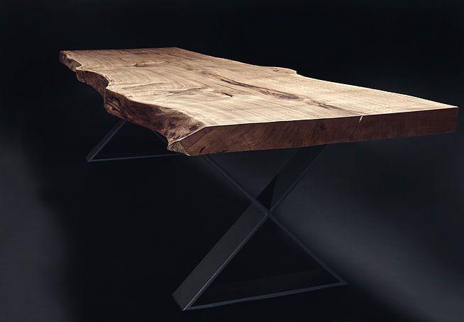 Holzwerk Hamburg massivholztisch esstisch baumtisch unverleimt aus einem stück