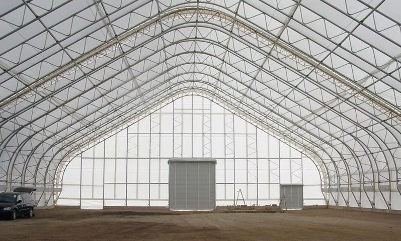 100' Wide PRESTIGE straight wall/peaked style Indoor Riding Arena! CHOOSE your length!