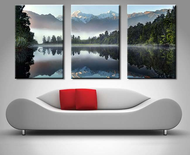 Buy Lake Serenity Three Panel Wall Art Framed Wall Art Sunshine Coast Panel Wall Art 3 Panel Wall Art Triptych Wall Art