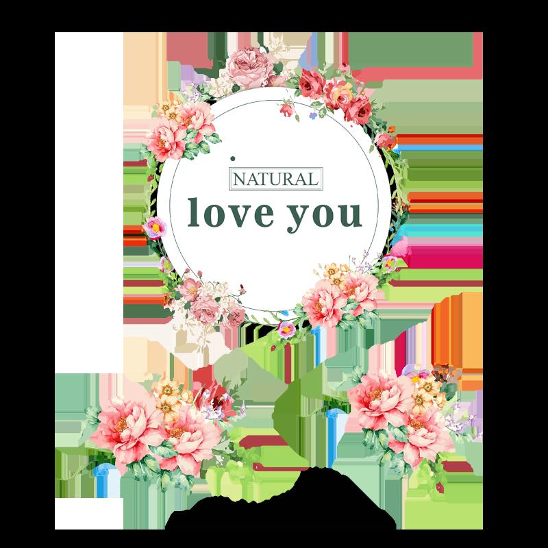 Vector Colored Bouquet Wreath, Wreath, Flower Garlands