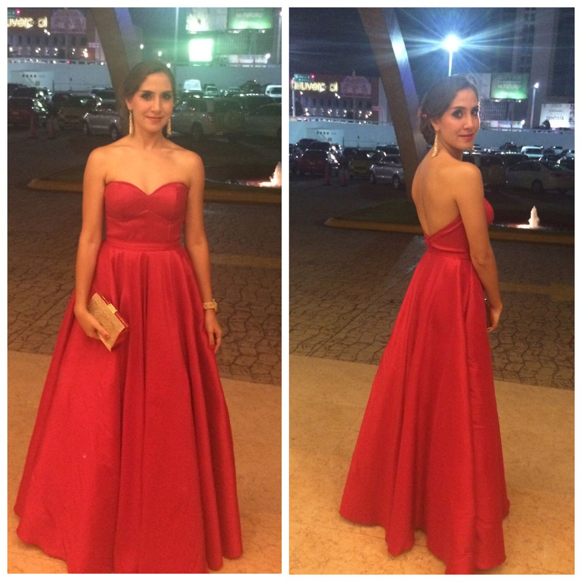 Elegant red dress with a little backless dresses i love