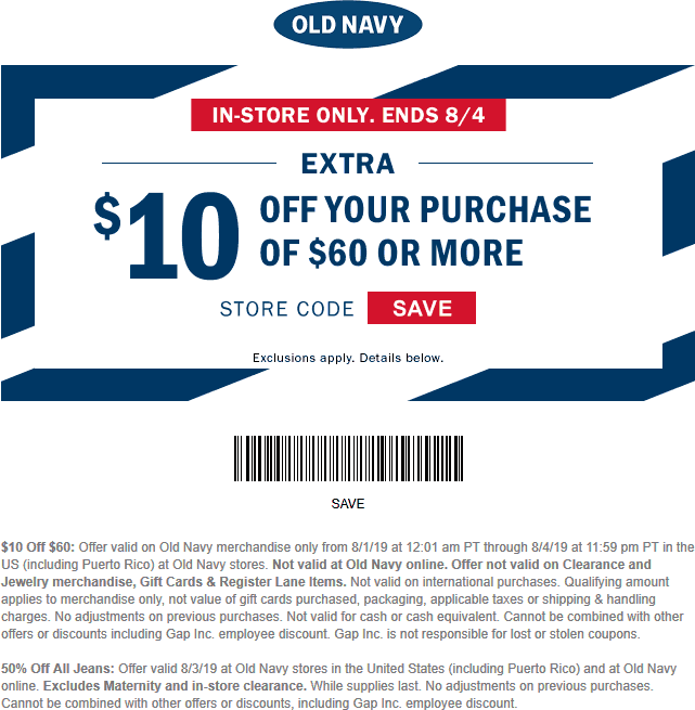 Pinned August 3rd 10 Off 60 At Oldnavy Thecouponsapp Old Navy Coupon Shopping Coupons Old Navy
