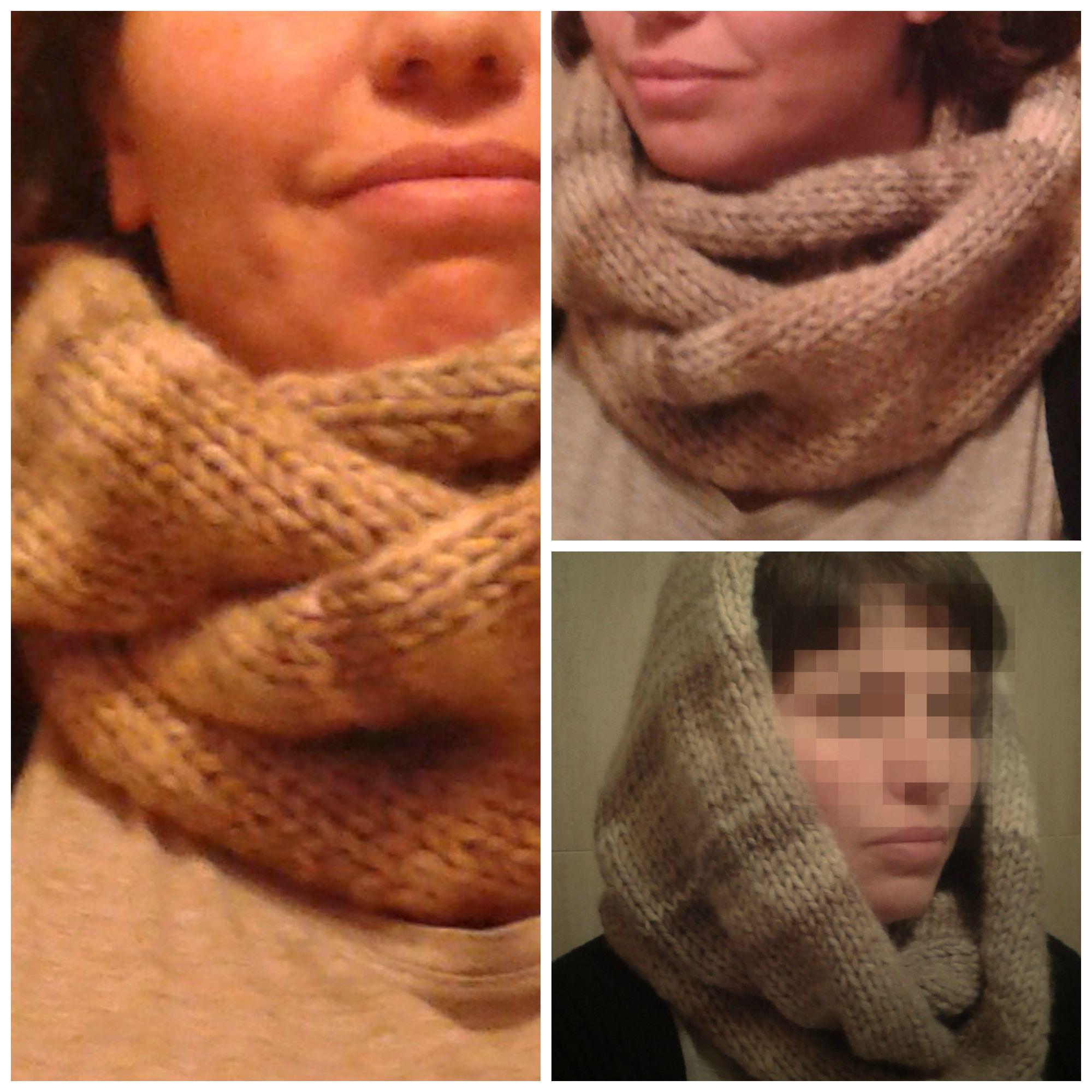 Cuello doble de lana La niña sandía