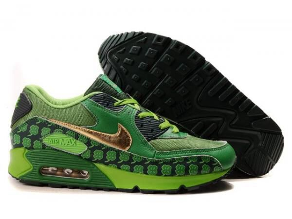 separation shoes 19fd1 e5788 Ken Griffey Shoes Nike Air Max 90 Green Black Gold Clover  Nike Air Max 90  - Special design and colorway let the Nike Air Max 90 Green Black Gold  Clover ...