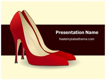 download #free #high #heel #shoes #powerpoint #template for your, Shoe Boutique Powerpoint Presentation Free Template, Presentation templates