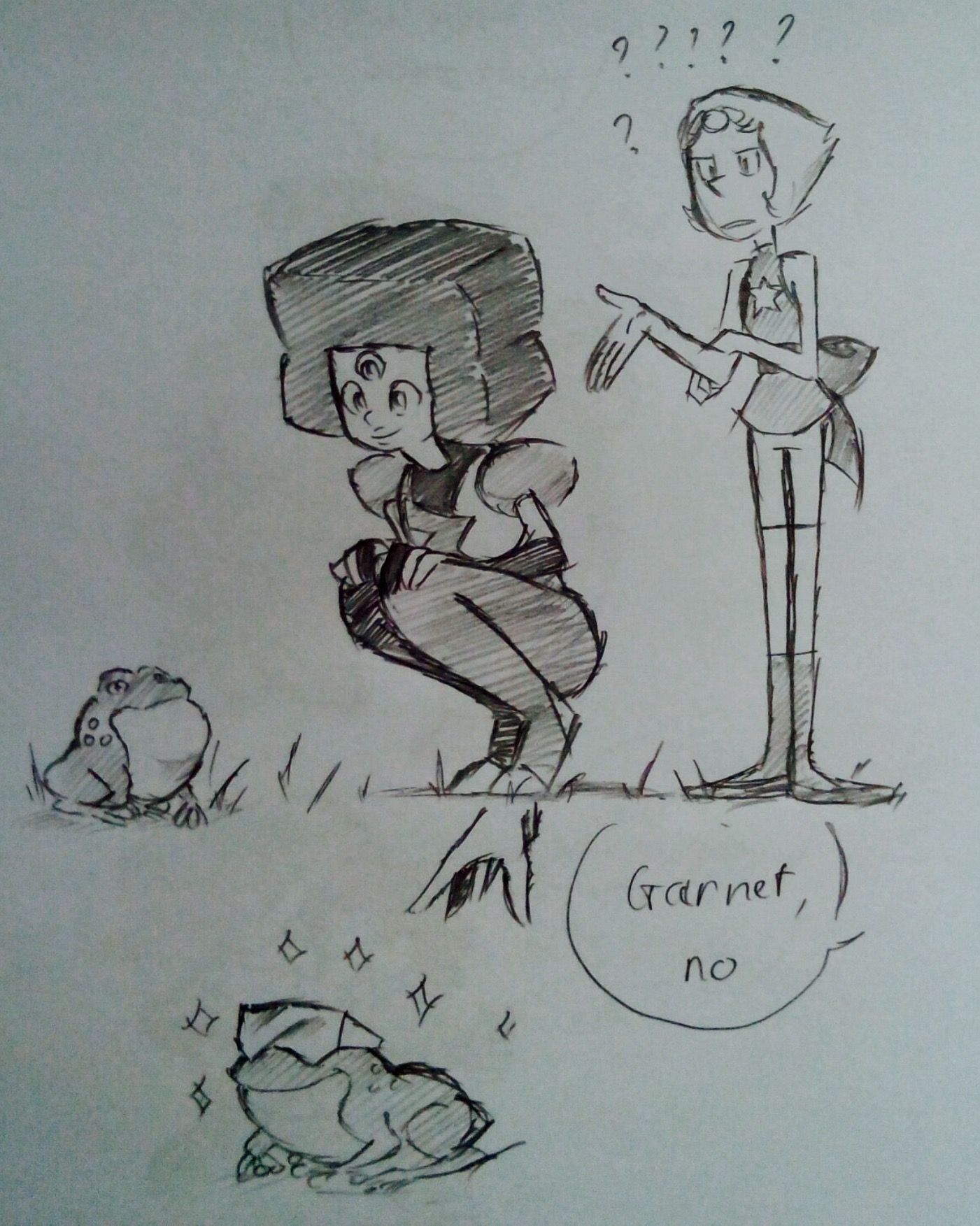 Garnet yes<<<this is really cute but where do her gems go???
