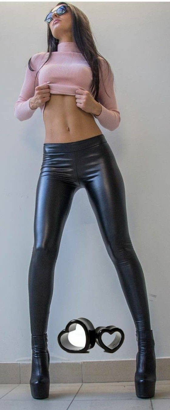 720ec55314b2b Pleather leggings, sweater | Closet | Leather pants, Sexy outfits ...