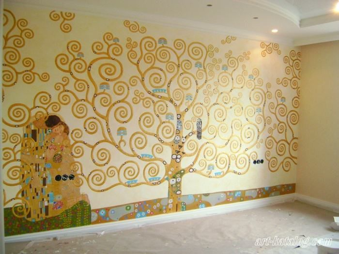 Tree of Life. Klimt. Wall painting in the bedroom   Color / Paint ...