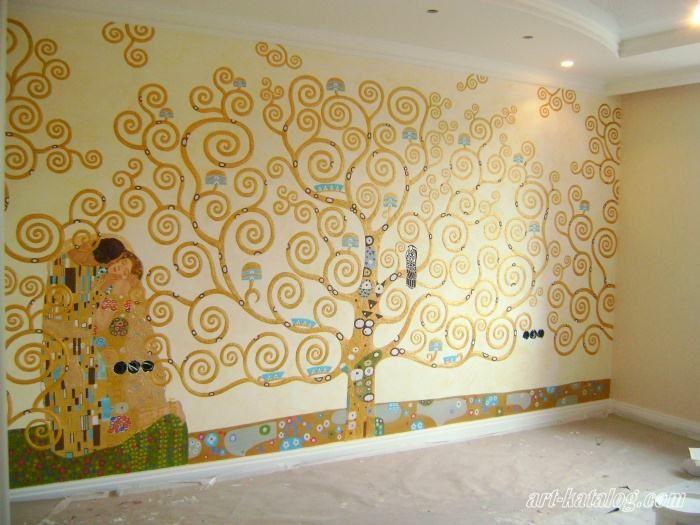 Tree of Life. Klimt. Wall painting in the bedroom | Klimt ...