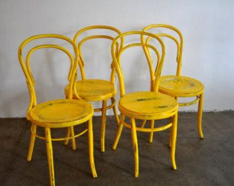 Set of 4 Vintage Thonet Dining Chairs
