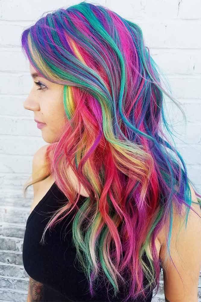 bright hair colors on pinterest bright hair rainbow hair and 33 rainbow hair styles to look like a unicorn cool hair