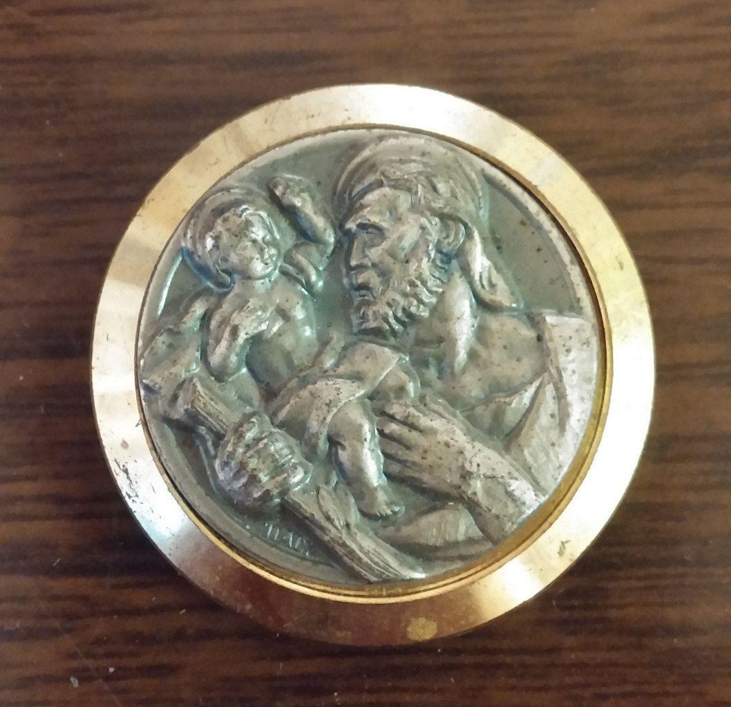 st christopher religious medallion st christopher religious magnet