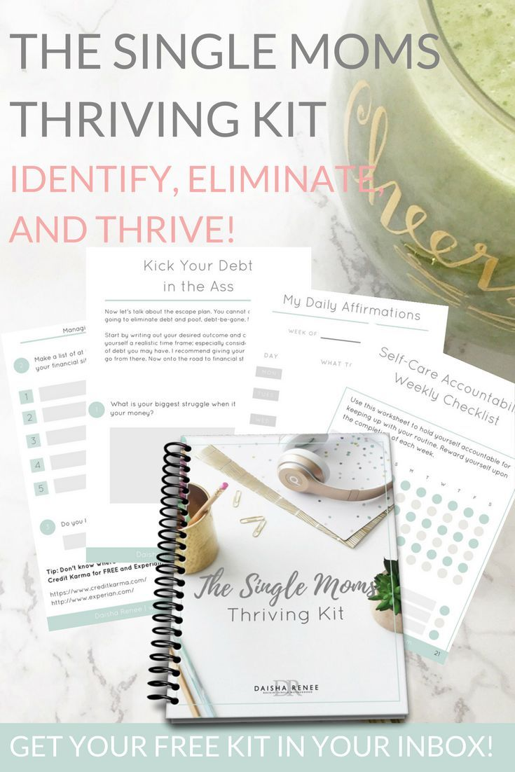 Get your FREE Single Mom Thriving Kit workbook which is intended ...