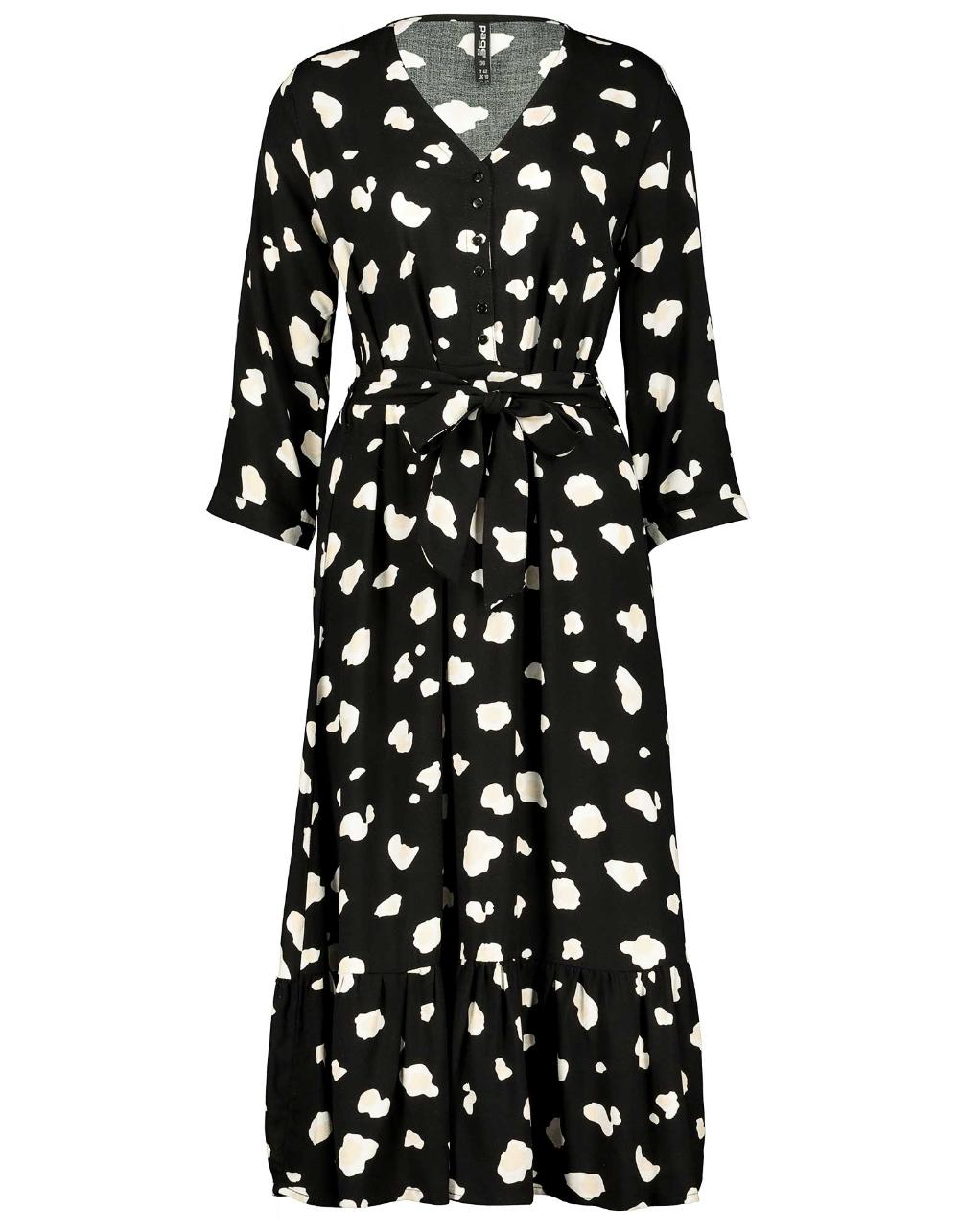 Damen Stufenkleid mit Allover Muster   Takko Fashion   Modestil ...